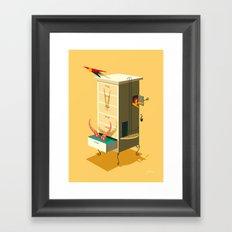 Falling Loves Framed Art Print