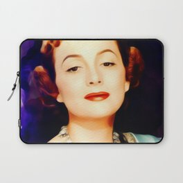 Olivia de Haviland, Vintage Actress Laptop Sleeve