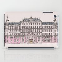 budapest hotel iPad Cases featuring Grand Budapest by Imogan T