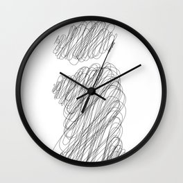 """ Cloud Collection "" - Minimal Letter I Print Wall Clock"
