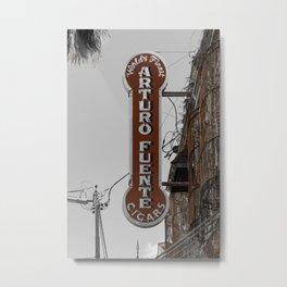 Vintage Neon Arturo Fuente Sign Ybor City Florida Metal Print