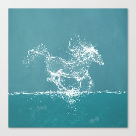 The Water Horse Canvas Print