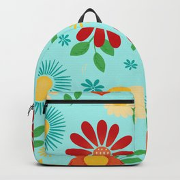 Flowers and Leaves Backpack