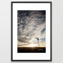 Sandhills Windmill @ Sunset Verticle Framed Art Print