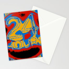 24 colourful hurs Stationery Cards