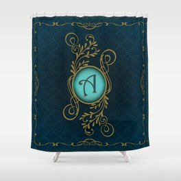 Letter A Shower Curtain
