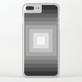 black and white tunnel Clear iPhone Case