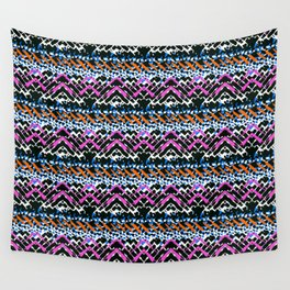 Painted chevrons Wall Tapestry