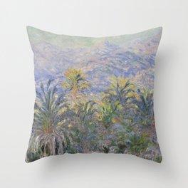 Palm Trees at Bordighera Throw Pillow