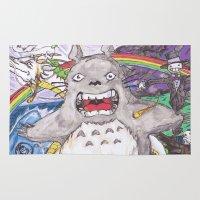 miyazaki Area & Throw Rugs featuring Miyazaki Mash-Up by Loveless D. Grim