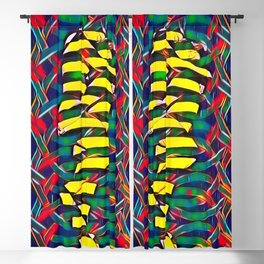 6825-LB Two Bodies Merge as One - Abstract Figurework Blackout Curtain