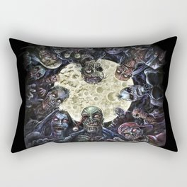 Zombies attack (zombie circle horde) Rectangular Pillow