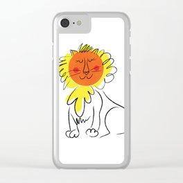 Jolly Lion Clear iPhone Case