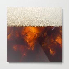 Soda In Glass Metal Print
