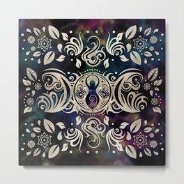 Triple Moon Goddess Moonlight purple #1 Metal Print