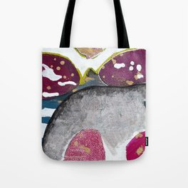Just Float Hand Painted Acrylic Abstract Tote Bag
