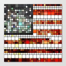 Retro Abstract American Flag Canvas Print