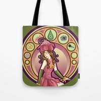 digimon Tote Bags featuring Digimon Cards: Mimi by Dralamy
