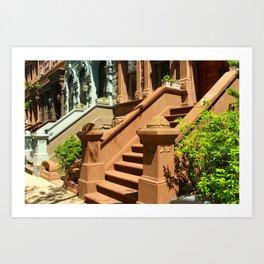New York Manhattan Upper West Side Townhomes Art Print