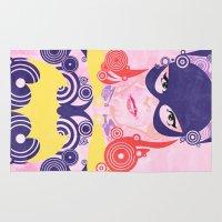 batgirl Area & Throw Rugs featuring Batgirl 60 by Joshua A. Biron