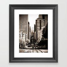 Downtown San Francisco Framed Art Print