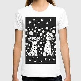 Funny Dalmatian Spotted Dogs Abstract Artwork T-shirt