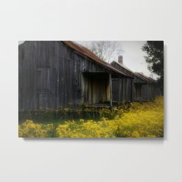 Slave cabin with flowers Metal Print