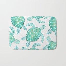 Sea Turtle Pattern - Blue Bath Mat