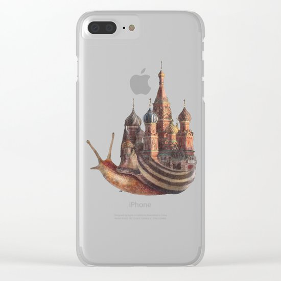 The Snail's Daydream Clear iPhone Case
