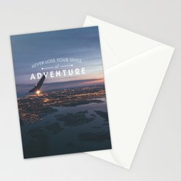Never Lose Your Sense of Adventure Stationery Cards