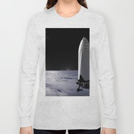 SpaceX Mission to Mars Martian Landscape Dragon Long Sleeve T-shirt
