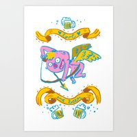 a drink my love ? Art Print