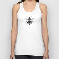 bee and puppycat Tank Tops featuring Bee by Paper Skull Studios