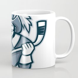 Musketeer Ice Hockey Mascot Coffee Mug