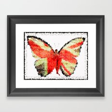 Lady Butterfly Framed Art Print