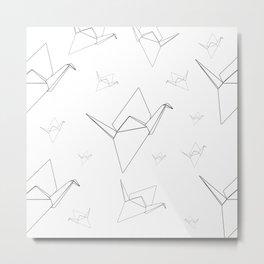 """A Thousand Origami Cranes"" Metal Print"