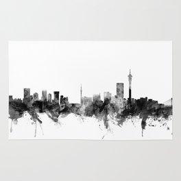 Johannesburg South Africa Skyline Rug