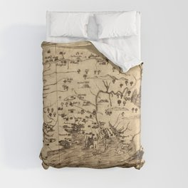 Map of New England by William Hubbard (1677) Comforters