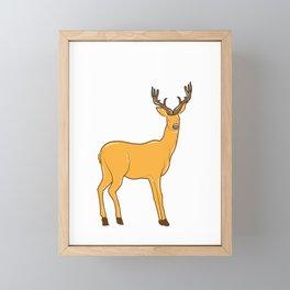 i eat people i eat people deer deer hiking Framed Mini Art Print
