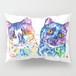 2 Kitties Hanging Out Pillow Sham