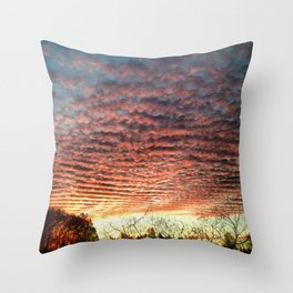 Rolling Skies Throw Pillow
