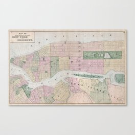 Vintage Map of New York City (1873) Canvas Print