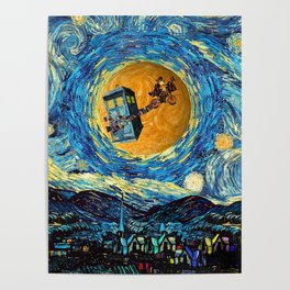 Doctor Who 4th at starrynight Poster