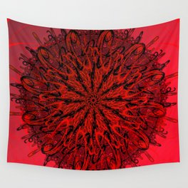 Blood Red & inked Wall Tapestry