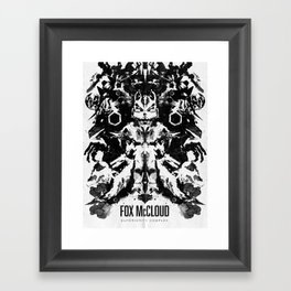 Fox McCloud Star Fox Inspired Geek Psychological Inkblot Framed Art Print
