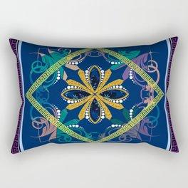 The Purple Batique Rectangular Pillow
