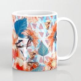 Geometric Flowers and Bees Coffee Mug
