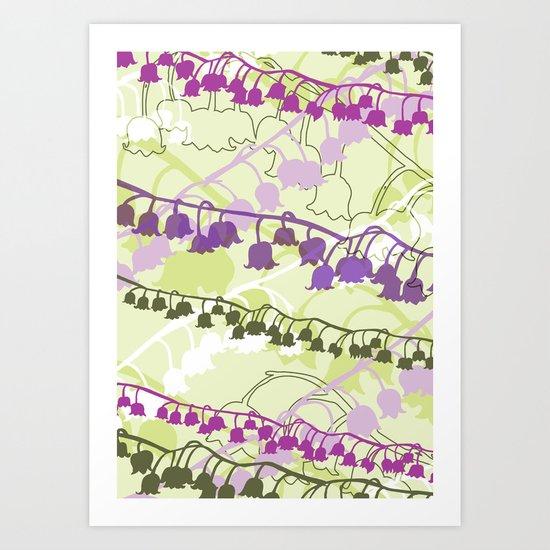 Layered Lily Art Print