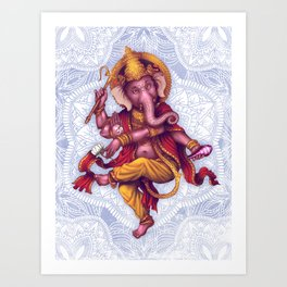 Ganesha (Color Variation 1) Art Print