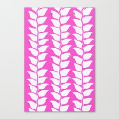 Hot Pink Heliconia Canvas Print